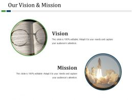 Our Vision And Mission Powerpoint Slide Rules