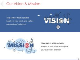 Our Vision And Mission Ppt Icon Template 1
