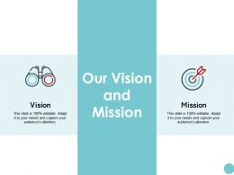 Our Vision And Mission Ppt Powerpoint Presentation Icon Model