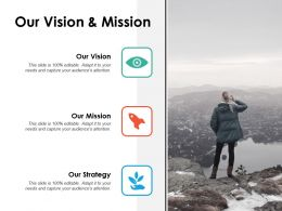 Our Vision And Mission Ppt Powerpoint Presentation Inspiration Slide Download