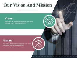 Our Vision And Mission Ppt Professional Slideshow