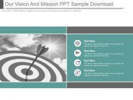 Our Vision And Mission Ppt Sample Download
