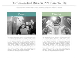 Our Vision And Mission Ppt Sample File