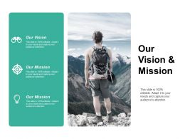 Our Vision And Mission Ppt Styles Infographic Template