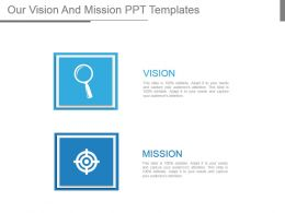 Our Vision And Mission Ppt Templates