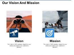 Our Vision And Mission Ppt Visual Aids Background Images
