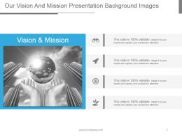 Our Vision And Mission Presentation Background Images
