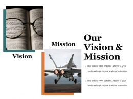 Our Vision And Mission Presentation Visuals