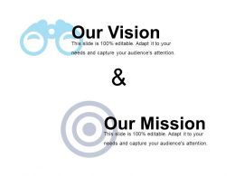 Our Vision And Our Mission Powerpoint Slides