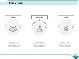 Our Vision Goal Mission Ppt Slides Designs Download