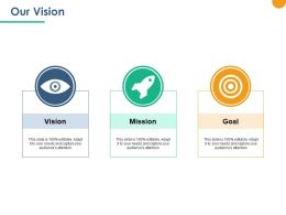 Our Vision Mission Goal Ppt Powerpoint Presentation Outline Templates