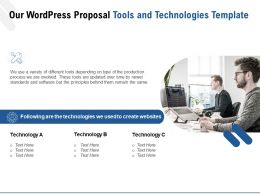 Our WordPress Proposal Tools And Technologies Template Ppt Powerpoint Presentation Slides