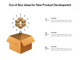 Out Of Box Ideas For New Product Development