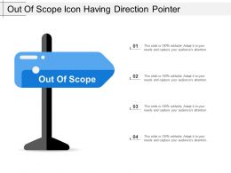Out Of Scope Icon Having Direction Pointer