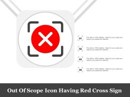 Out Of Scope Icon Having Red Cross Sign
