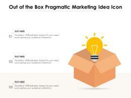 Out Of The Box Pragmatic Marketing Idea Icon
