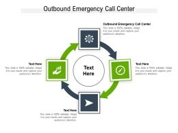 Outbound Emergency Call Center Ppt Powerpoint Presentation Outline Guide Cpb