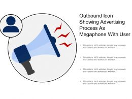 Outbound Icon Showing Advertising Process As Megaphone With User