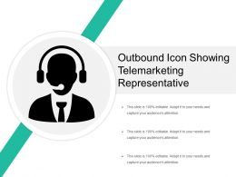 Outbound Icon Showing Telemarketing Representative