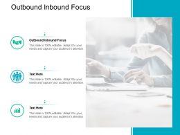 Outbound Inbound Focus Ppt Powerpoint Presentation Ideas Introduction Cpb