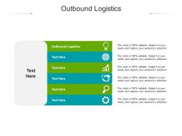 Outbound Logistics Ppt Powerpoint Presentation Infographic Template Aids Cpb