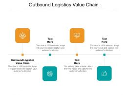 Outbound Logistics Value Chain Ppt Powerpoint Presentation Layouts Influencers Cpb