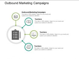 Outbound Marketing Campaigns Ppt Powerpoint Presentation Infographic Template Guide Cpb