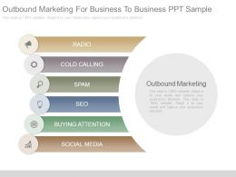 Outbound Marketing For Business To Business Ppt Sample