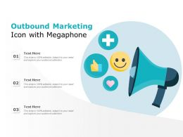 Outbound Marketing Icon With Megaphone