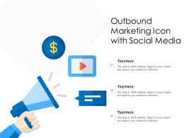 Outbound Marketing Icon With Social Media