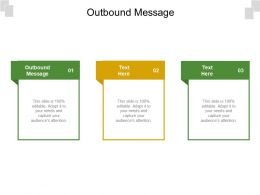 Outbound Message Ppt Powerpoint Presentation File Graphic Tips Cpb