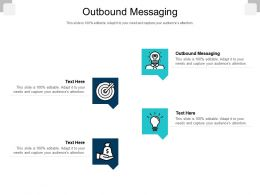 Outbound Messaging Ppt Powerpoint Presentation Slides Skills Cpb