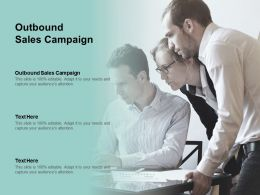Outbound Sales Campaign Ppt Powerpoint Presentation Model Gridlines Cpb