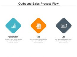 Outbound Sales Process Flow Ppt Powerpoint Presentation Infographics Design Templates Cpb