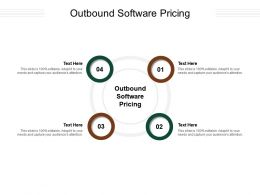 Outbound Software Pricing Ppt Powerpoint Presentation File Layout Cpb