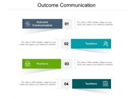 Outcome Communication Ppt Powerpoint Presentation Pictures Grid Cpb