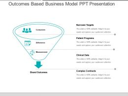 Outcomes Based Business Model Ppt Presentation