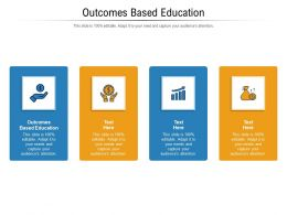 Outcomes Based Education Ppt Powerpoint Presentation Gallery Example File Cpb