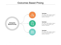 Outcomes Based Pricing Ppt Powerpoint Presentation Pictures Slides Cpb