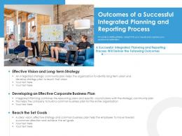 Outcomes Of A Successful Integrated Planning And Reporting Process