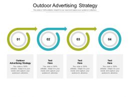 Outdoor Advertising Strategy Ppt Powerpoint Presentation Ideas Background Images Cpb