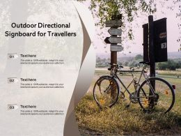 Outdoor Directional Signboard For Travellers