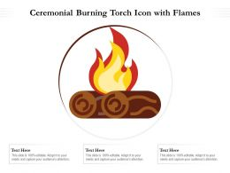 Outdoor Fire Wood Icon With Flames
