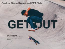 Outdoor Game Skateboard PPT Slide