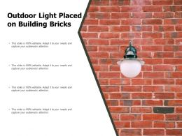 Outdoor Light Placed On Building Bricks