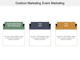 Outdoor Marketing Event Marketing Ppt Powerpoint Presentation Pictures Show Cpb