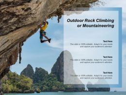 Outdoor Rock Climbing Or Mountaineering