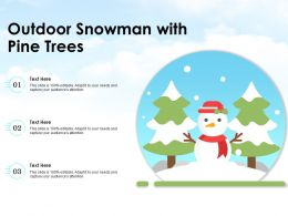 Outdoor Snowman With Pine Trees