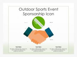 Outdoor Sports Event Sponsorship Icon