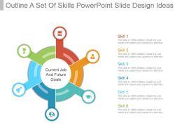 Outline A Set Of Skills Powerpoint Slide Design Ideas